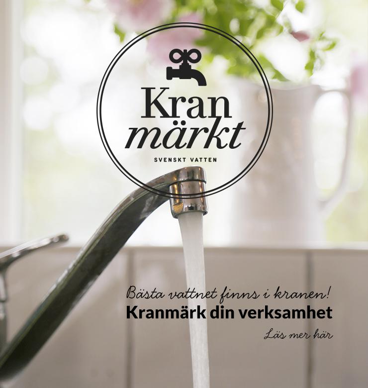 Vattenkran med Kranmärkt-logotyp