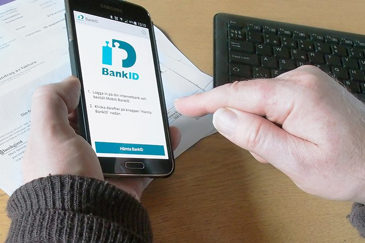 Hämtar mobilt BankId för att betala faktura