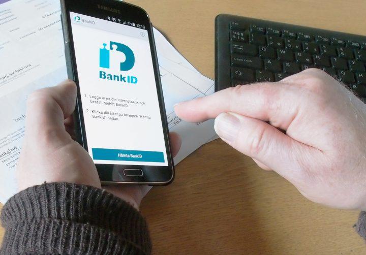 Hämtar mobilt BankId för räkningsbetalning