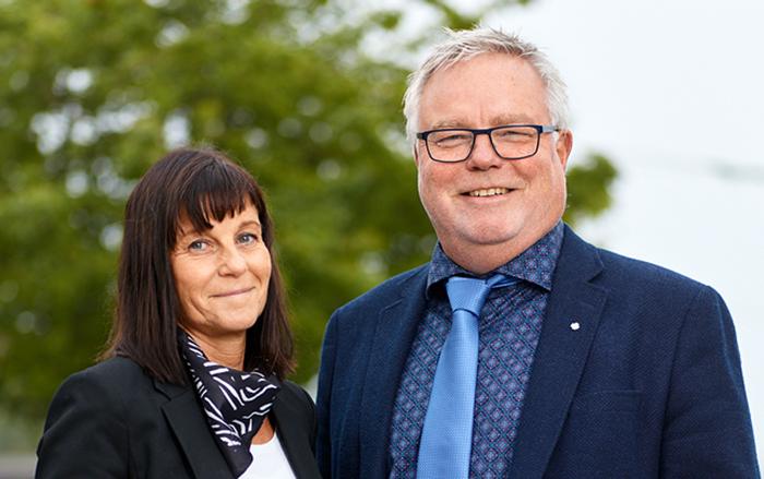 Anneli Wikner och Helge Sjödin